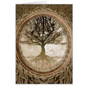 Brown Tree of Life Pattern Card (<em>$3.15</em>)