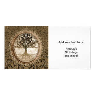 Brown Tree of Life Pattern Card