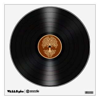 Brown Tree of Life Vinyl Record Graphic Room Decals