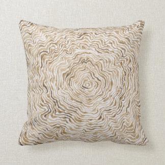 Brown Tree Ring Pillow