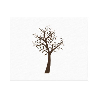 brown tree simple design eco.png canvas print