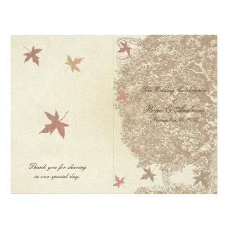 Brown Tree Wedding Program