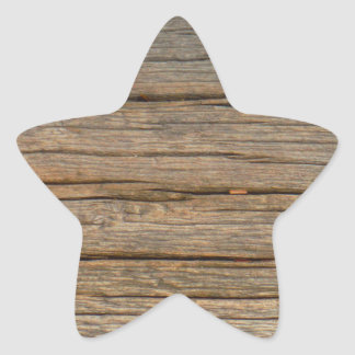 brown tree wood  close up star sticker