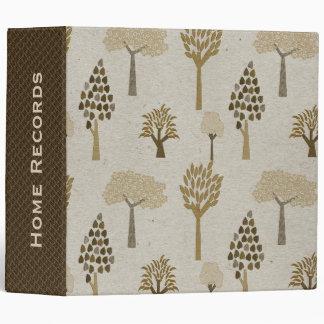 Brown Trees Custom Binder