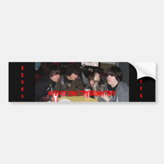 Brown Trees group photo bumper sticker