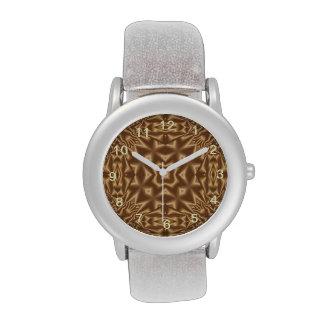 Brown trendy pattern watches