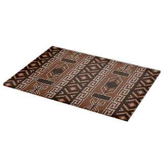 Brown Tribal Aztec Pattern Cutting Board