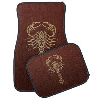 Brown Tribal Scorpion Car Mat