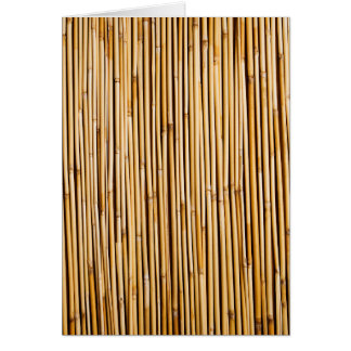 Brown Tropical Bamboo Plant Botanical Card