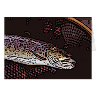 Brown Trout Blank Greeting Card