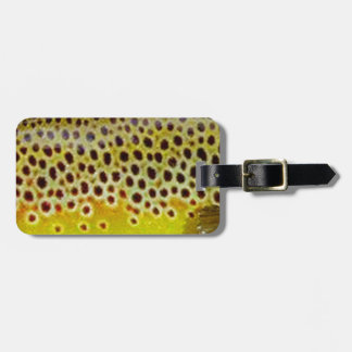Brown Trout by PatternWear© Luggage Tag