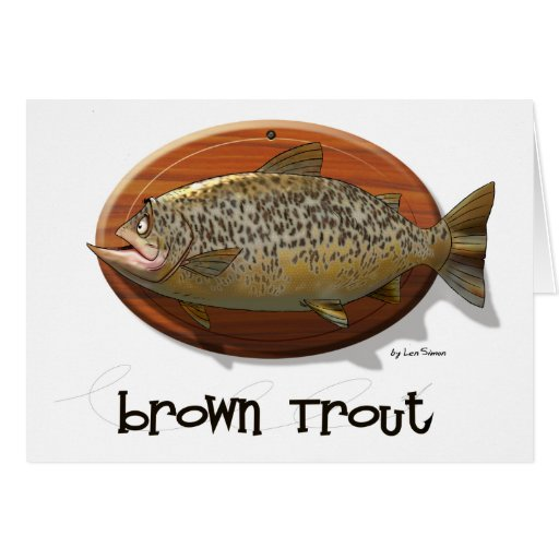 Brown Trout Card