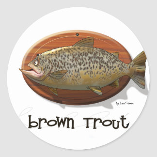Brown Trout Classic Round Sticker