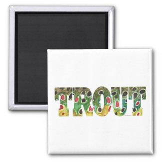 Brown Trout Design Refrigerator Magnets
