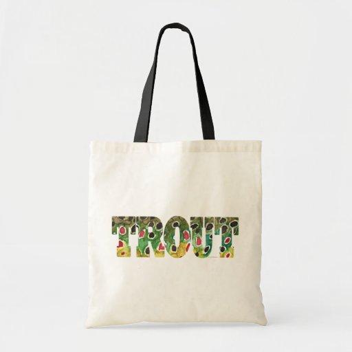 Brown Trout Design Tote Bag