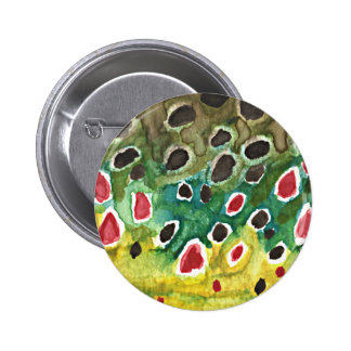 Brown Trout Fish Button