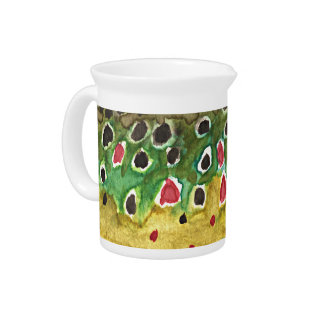 Brown Trout Fish Drink Pitcher