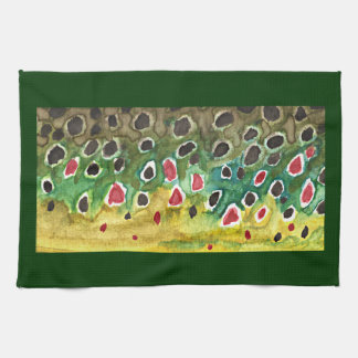 Brown Trout Fish Hand Towel