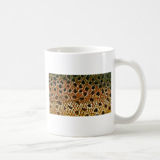 Brown Trout Fish Skin Print Coffee Mug