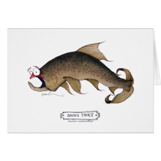 Brown Trout fish, tony fernandes Greeting Card
