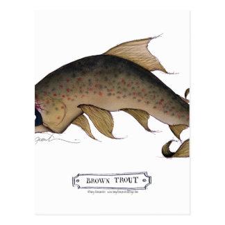 Brown Trout fish, tony fernandes Postcard