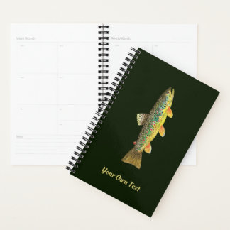 Brown Trout Fisherman's Personalized Planner