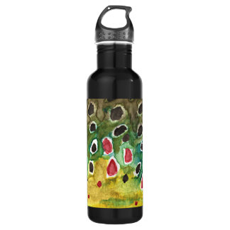 Brown Trout Fishing, Angling, Fisherman's Stainless Steel Water Bottle