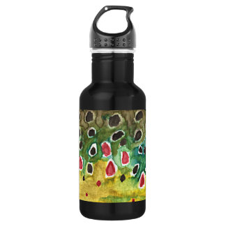 Brown Trout Fishing, Angling Stainless Steel Water Bottle