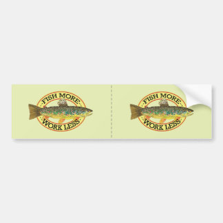 Brown Trout Fishing Bumper Sticker