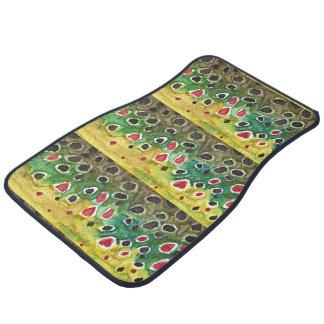 Brown Trout Fishing Car Floor Mat