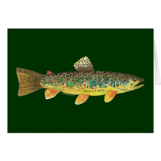 Brown Trout Fishing Card