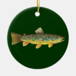 Brown Trout Fishing Christmas Ornament