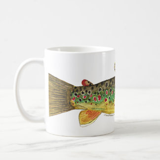Brown Trout Fishing Coffee Mug