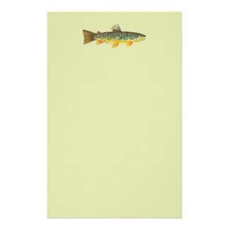 Brown Trout Fishing Customized Stationery