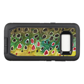 Brown Trout Fishing, Ichthyology OtterBox Defender Samsung Galaxy S8 Case