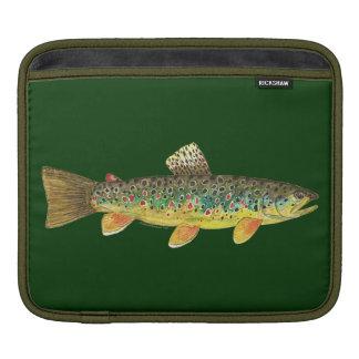 Brown Trout Fishing iPad Sleeves