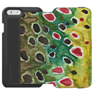 Brown Trout Fishing iPhone 6/6s Wallet Case
