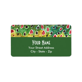 Brown Trout Fishing Address Label