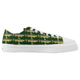 Brown Trout Fishing Low-Top Sneakers