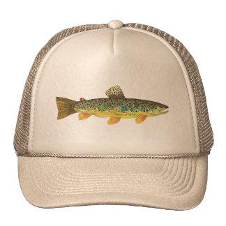 Brown Trout Fishing Mesh Hats
