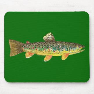 Brown Trout Fishing Mousepad
