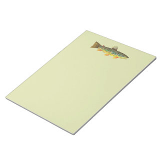 Brown Trout Fishing Notepad