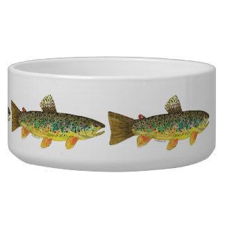 Brown Trout Fishing Pet Water Bowl