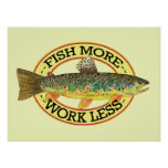 Brown Trout Fishing Poster