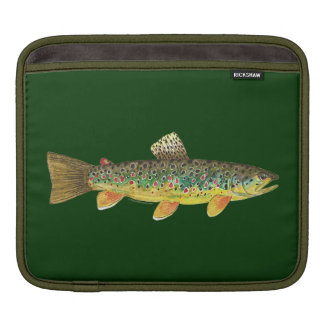 Brown Trout Fishing Sleeve For iPads