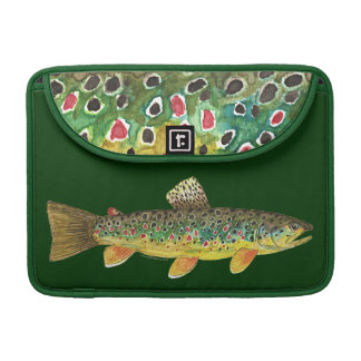 Brown Trout Fishing Sleeve For MacBook Pro