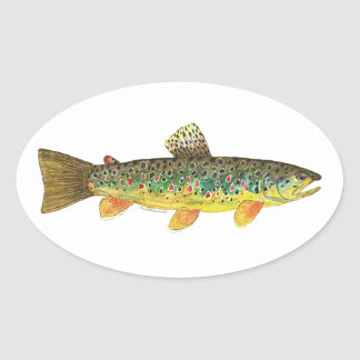 Brown Trout Fishing Stickers