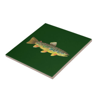 Brown Trout Fishing Tile