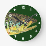 Brown Trout Fishing Wall Clocks