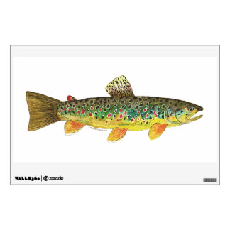 Brown Trout Fishing Wall Decal